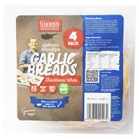Giannis Garlic Flat Bread 4ea