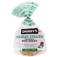 Danny's Wholemeal Garlic Pita Bread 4ea