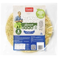Giannis Spinach Natural Wraps 6ea