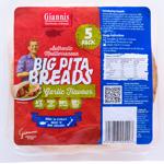 Giannis Garlic Big Pita Breads 5ea