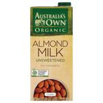 Australia's Own Organic Unsweetened Almond Milk 1l