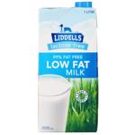 Liddells Low Fat Lactose Free Milk 1l