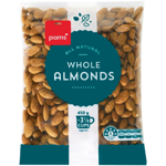 Pams Natural Whole Almonds 450g