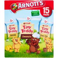 Arnott's Arnotts Tiny Teddy Plain Biscuits Variety Pak 375g (25g x 15pk)