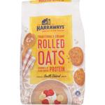 Harraways Rolled Oats Breakfast Cereal 0.8kg