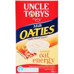 Uncle Tobys Flemings Rolled Oats Milk Oaties Breakfast Cereal 0.5kg