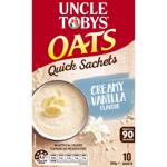 Uncle Tobys Uncle Tobys Oats Quick Sachets Creamy Vanilla Sachets 10pk