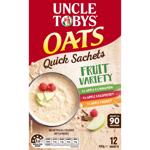 Uncle Tobys Oats Quick Fruit Variety Sachets 0.42kg
