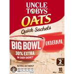 Uncle Tobys Oats Quick Big Bowl Original Sachets 10pk