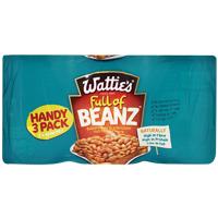 Wattie's Baked Beans In Tomato Sauce 3pk