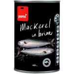 Pams Mackerel In Brine 425g