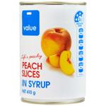 Value Peach Slices 410g
