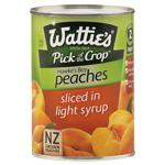Wattie's Sliced Peaches In Light Syrup 410g