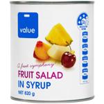 Value Fruit Salad in Syrup 820g