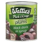 Wattie's Black Doris Plums In Syrup 850g