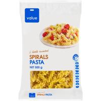 Value Dry Pasta Spirals 500g