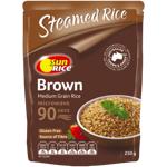 SunRice Medium Grain Microwave in 90 Seconds Brown Rice 250g