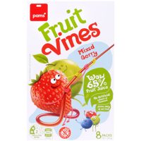 Pams Mixed Berry Fruit Vines 8pk