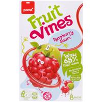 Pams Raspberry Sour Fruit Vines 8pk