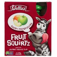 Wattie's Fruit Squirtz Apple Mango Puree 4pk