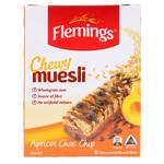 Flemings Apricot Choc Chip Chewy Muesli Bar 6pk