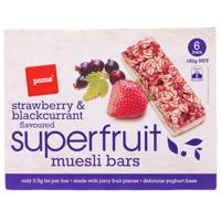 Pams Superfruit Muesli Bars Strawberry & Blackcurrant 6 6pk