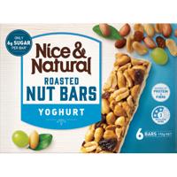 Nice & Natural Yoghurt Roasted Nut Bars 6pk
