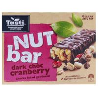 Tasti Nut Bar Dark Choc Cranberry Bars 6pk