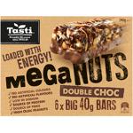 Tasti Mega Nuts Double Choc Bars 240g (40g x 6pk)