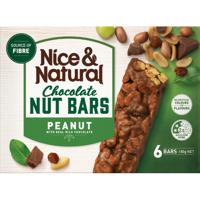 Nice & Natural Peanut Milk Chocolate Roasted Nut Bars 6pk