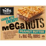 Tasti Mega Nuts Peanut Butter Bar 240g (40g x 6pk)