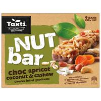 Tasti Nut Bar Choc Apricot Coconut & Cashew Bars 6pk