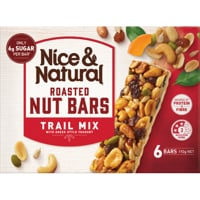 Nice & Natural Trail Mix Roasted Nut Bars 6pk