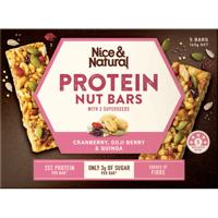 Nice & Natural Cranberry Goji Berry & Quinoa Protein Nut Bars 5pk
