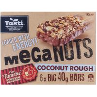 Tasti Mega Nuts Coconut Rough Bars 240g  (40g x 6pk)
