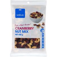 Value Cranberry Nut Mix 500g