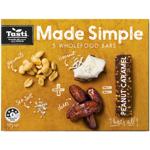 Tasti Made Simple Peanut Caramel Wholefood Bars 150g