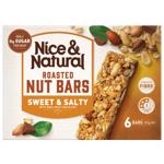 Nice & Natural Sweet & Salty Roasted Nut Bars 6pk