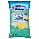 Bluebird Thinly Cut Sour Cream & Chives Potato Chips 140g