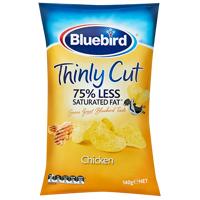 Bluebird Thinly Cut Chicken Potato Chips 140g