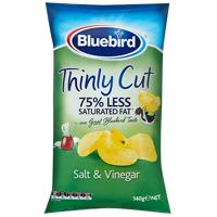 Bluebird Thinly Cut Salt & Vinegar Potato Chips 140g