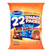 Bluebird Mega Value Flavoured Corn Snack Packs 22pk