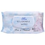 Silk Flushable Wipes 40ea