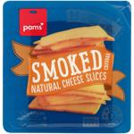 Pams Natural Smoked Cheddar Cheese Slices 300g