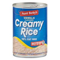 Aunt Betty's Creamy Rice Vanilla Flavoured Dessert 425g