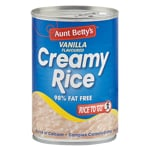 Aunt Betty's Creamy Rice Vanilla Flavoured Dessert 425g