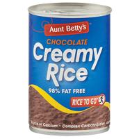 Aunt Betty's Creamy Rice Chocolate Flavoured Dessert 425g