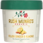 Rush Munros Premium Organic Feijoa Ginger & Almond Ice Cream 457ml