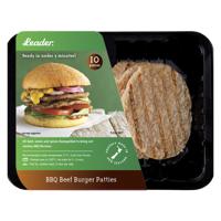 Leader BBQ Burger Beef Patties 10ea