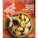 United Food Co Asian Kitchen Ginger Prawn Dumpling 300g